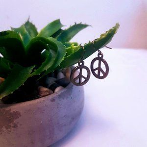 #J23 Peace Sign Earrings